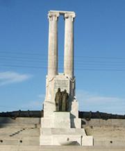 Vista parcial del monumento a las víctimas del hundimiento del Maine. Foto del autor