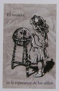Para esta obra se basó Laura Llópiz en una de las ilustraciones de La Edad de Oro. (Fotocopia: E.C.L.)